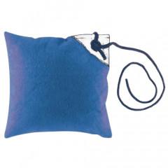 наволочка  голубая с бежевым непромокаемая 2 шт